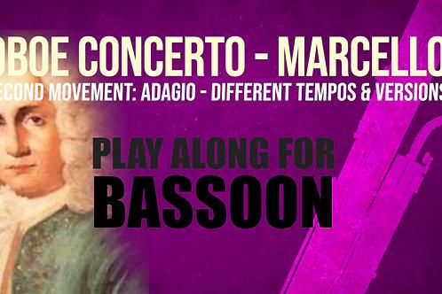OBOE CONCERTO - 2do Movimiento de A. MARCELLO Fagot