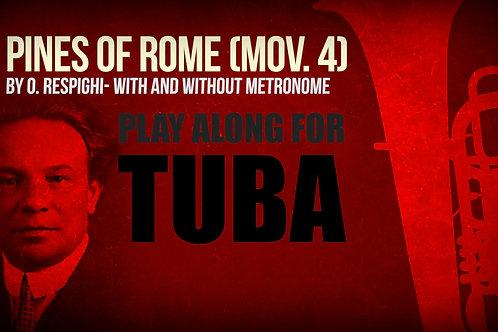 PINES OF ROME - Por Ottorino Respighi - Play-Along para TUBA