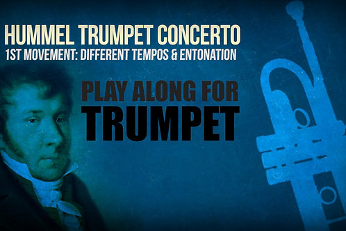 HUMMEL - CONCERTO in E (1st MOV) - For solo TRUMPET in Bb
