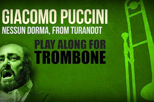 Giacomo Puccini, Nessun Dorma (de TURANDOT) - SOLO TROMBÓN TENOR