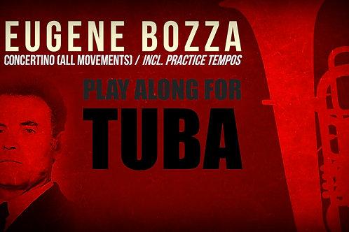 CONCERTINO for TUBA (E. BOZZA) - With & without metronome, incl. practice tempos