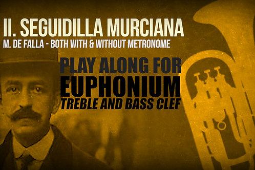 II. SEGUIDILLA MURCIANA (Seven Spanish Folksongs) by M. de FALLA -  EUPHONIUM