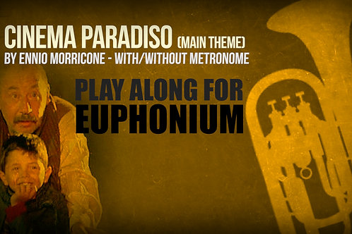 CINEMA PARADISO - MAIN THEME - For solo TENOR TROMBONE