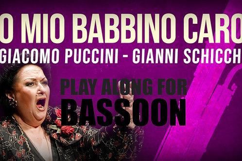 O MIO BABBINO CARO - Giacomo Puccini - For solo BASSOON