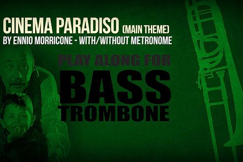 CINEMA PARADISO - MAIN THEME - For solo BASS TROMBONE