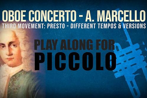 OBOE CONCERTO - 3rd Movement by A. Marcello - PICCOLO TRUMPET in Bb
