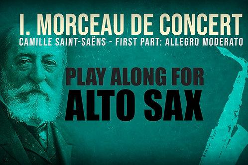 Morceau de Concert 1a Parte - Saint Saëns, Saxofón Alto