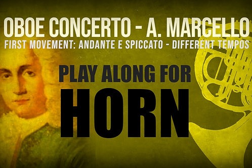 OBOE CONCERTO by A. MARCELLO - Arr. for Horn in F