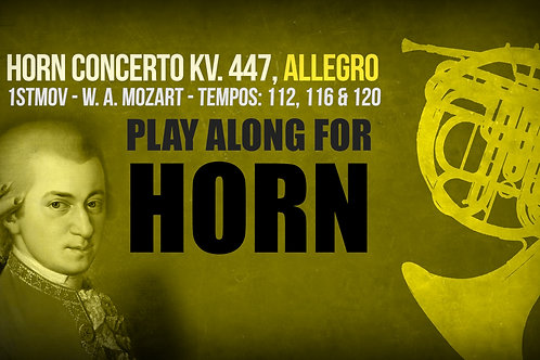 HORN CONCERTO KV. 447 - 1ST MOV - Different TEMPOS (in F and Eb))