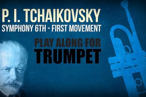 "P. I. Tchaikovsky, Sinfonía No. 6 ""Pathétique"", 1er movimiento (pasaje) - TROMPETA I"