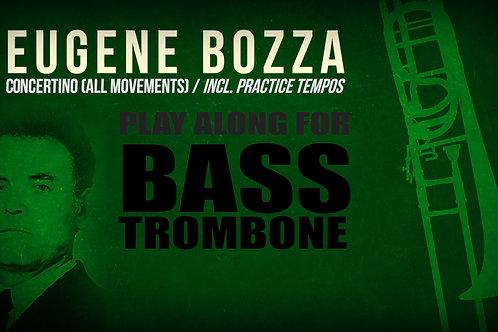 CONCERTINO para TROMBON BAJO (E. BOZZA) - Con y sin metrónomo (Dif. tempos))