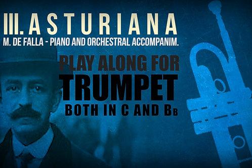 III. ASTURIANA (Siete canciones populares) de FALLA - Para TROMPETA solo (Sib & Do)