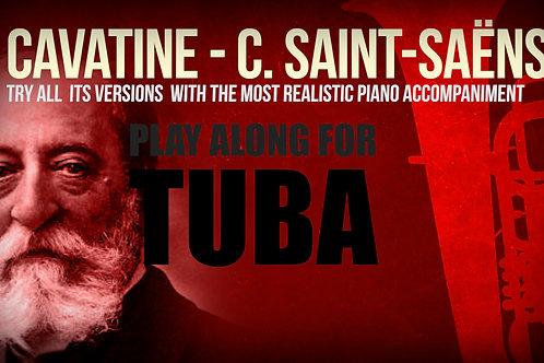 CAVATINE - SAINT-SAËNS - For solo TUBA and PIANO