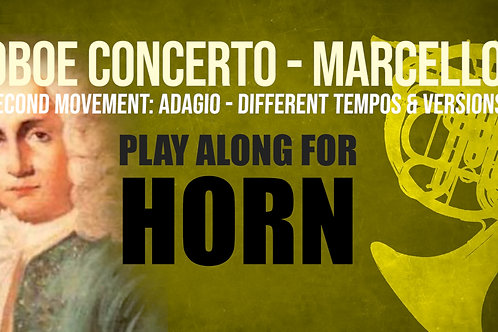 OBOE CONCERTO - 2nd Movement by A. MARCELLO HORN IN F