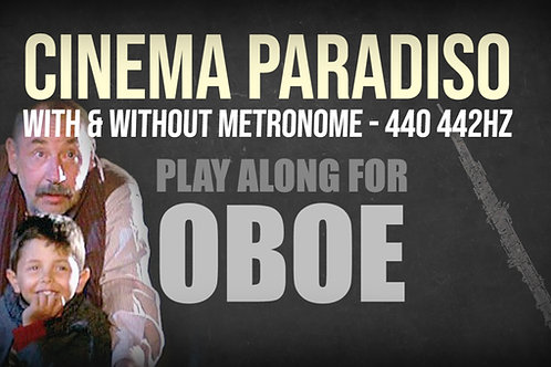 CINEMA PARADISO - TEMA PRINCIPAL - Para OBOE en solitario