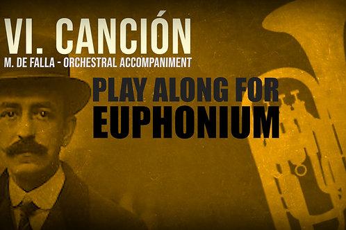 VI. CANCION (Seven Spanish Folksongs) by FALLA -  EUPHONIUM
