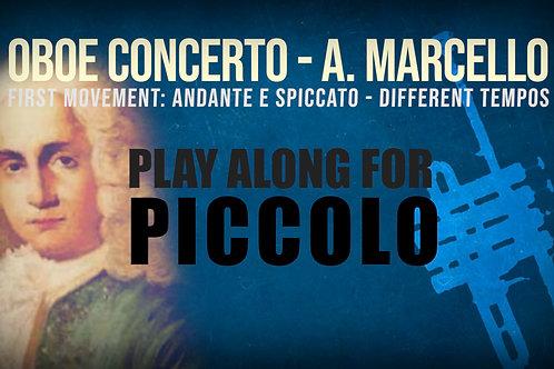 OBOE CONCERTO de A. MARCELLO - Arr. para trompeta Piccolo