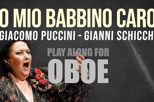 O MIO BABBINO CARO - Giacomo Puccini - Para OBOE solo