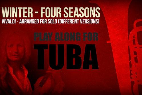 WINTER (FOUR SEASONS) by A. Vivaldi - For solo TUBA