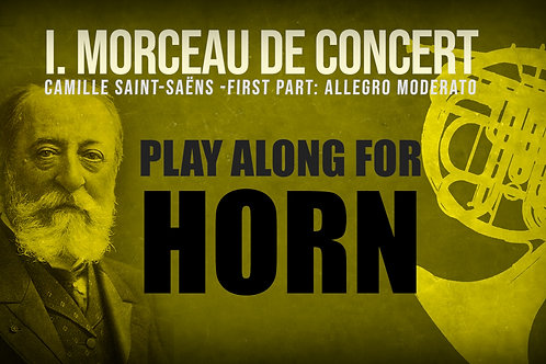 Morceau de Concert 1a parte - Saint Saëns, TROMPA en F