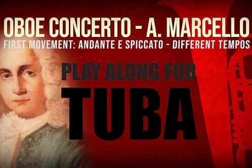 OBOE CONCERTO de A. MARCELLO - Arr. para tuba