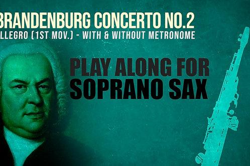 SAXOFON SOPRANO - BRANDENBURG 2 (1er Mov.) - BACH