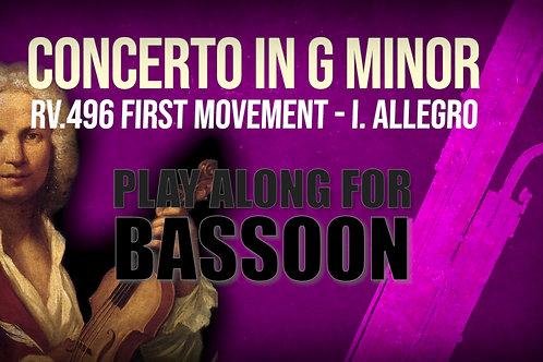 CONCERTO FOR BASSOON in G minor RV.496 - A.Vivaldi - I. Allegro