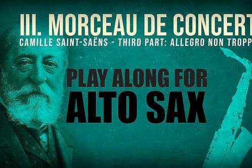 Morceau de Concert 3rd Part - Saint Saëns, Alto Saxophone