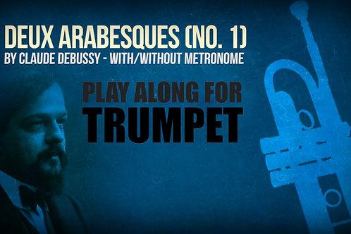 Deux Arabesques (No. 1) - CLAUDE DEBUSSY - Para solo TROMPETA en Sib