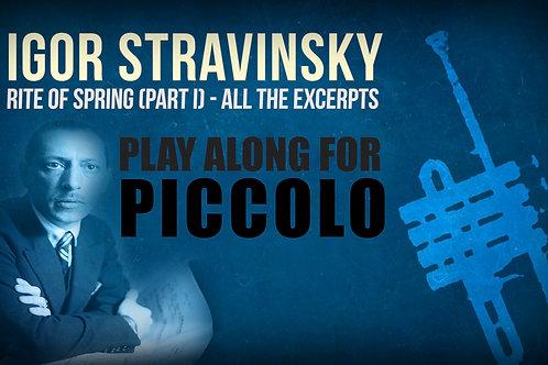 CONSAGRACIÓN DE LA PRIMAVERA (I. Stravinsky) - 1ª PARTE (Todos los extractos) - PICCOLO (en RE)