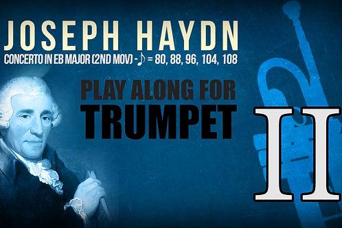 J.HAYDN - TRUMPET CONCERTO (Eb & Bb) - 2ND MOV - Tempos: 80, 88, 96, 104, 108