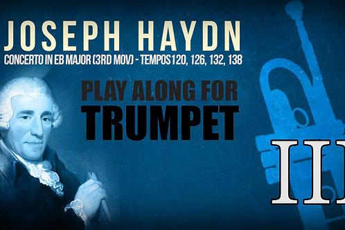 J.HAYDN - TRUMPET CONCERTO (Eb & Bb) - 3RD MOV - Tempos:120, 126, 132, 138