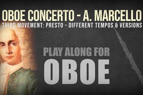 OBOE CONCERTO - 3rd Movement by A. Marcello - OBOE