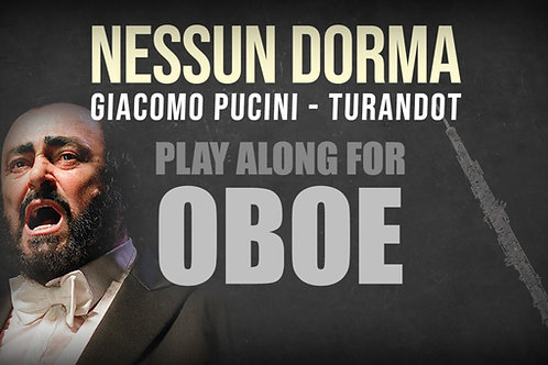 Giacomo Puccini, Nessun Dorma (de TURANDOT) - SOLO OBOE