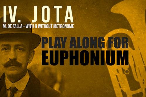 IV. JOTA (Seven Spanish Folksongs) by FALLA -  EUPHONIUM