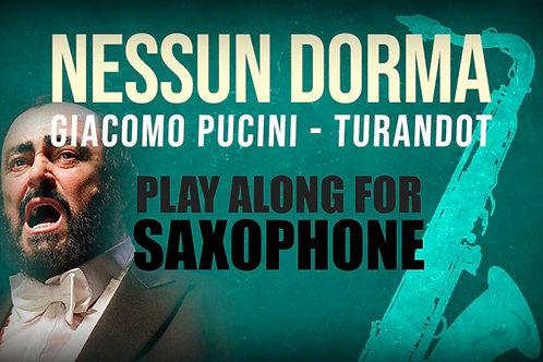 Giacomo Puccini, Nessun Dorma (de TURANDOT) - SAXOFÓN SOLO EN Sib