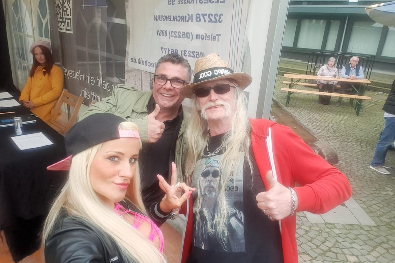 Juana Princess mit Harpo Cool und Frank Schrodt