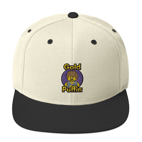 Classic Samson Snapback Hat (embroidered logo with purple background)