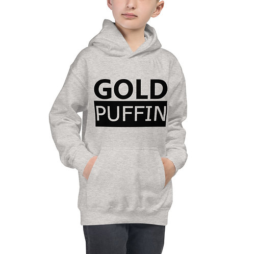 Gold Puffin Bold Kids Hoodie