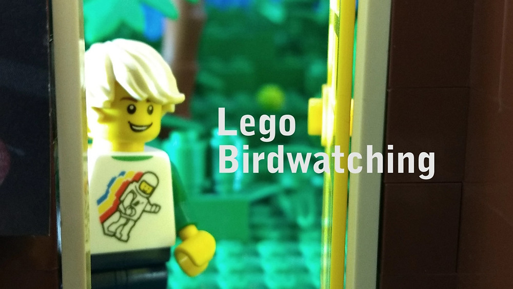 Lego birdwatch brickfilm thumbnail, an original stop motion by Gold Puffin