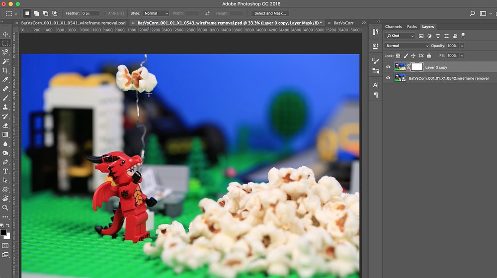 Animated Brick Builders use photoshop to edit photos for their brickfilms lego stop motion animation