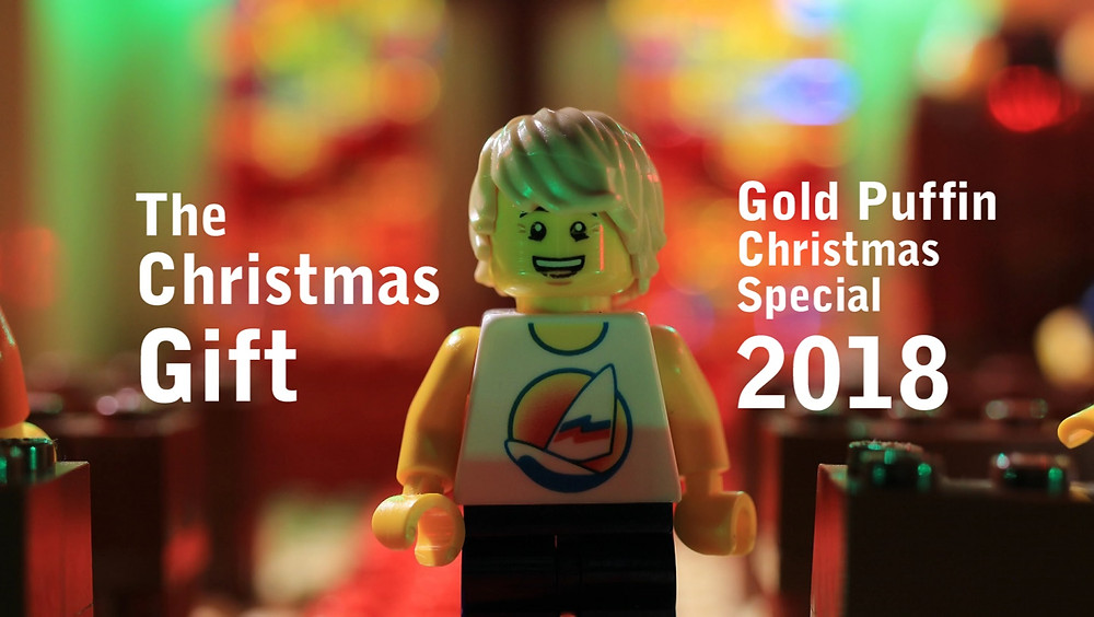 "Gold Puffin's Christmas special stop motion animation 2018, a brickfilm called ""The Gift"""
