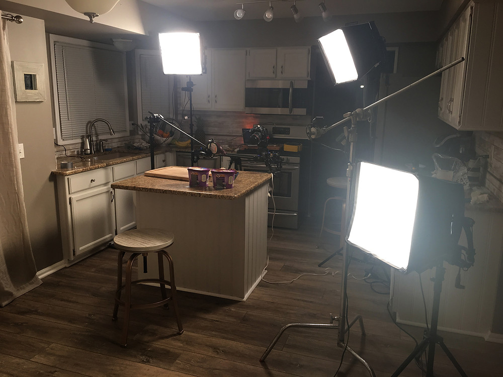 Stop motion animation lighting set up professional pro