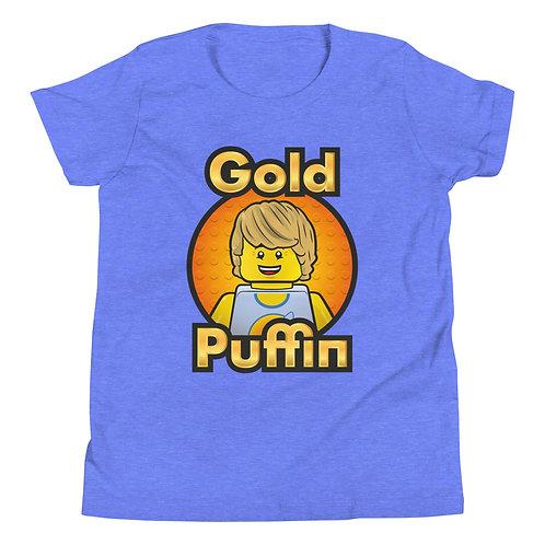 Classic Samson Youth Short Sleeve T-Shirt (orange logo background)