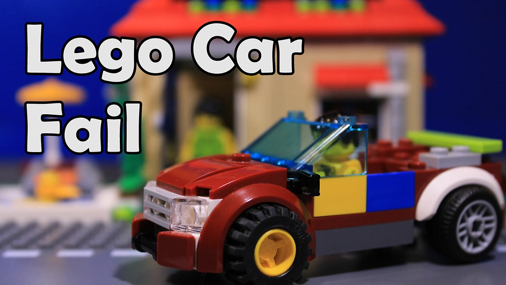 Lego Car Fail stop motion brickfilm by Gold Puffin