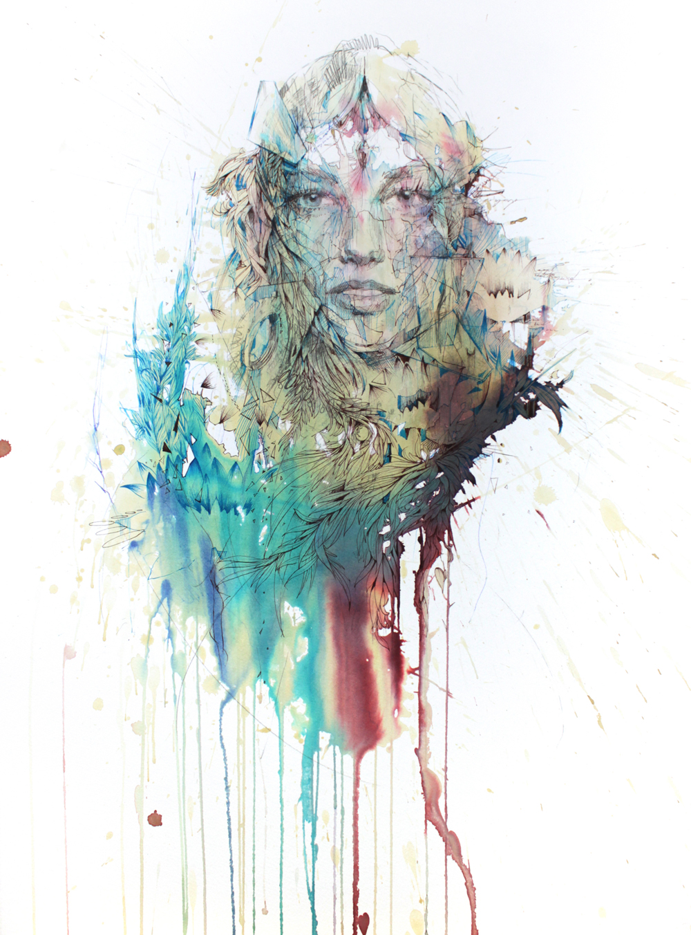 Lotus Flower by Carne Griffiths