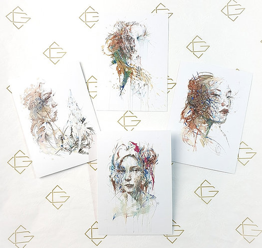 Invisible Lines - Postcard Set