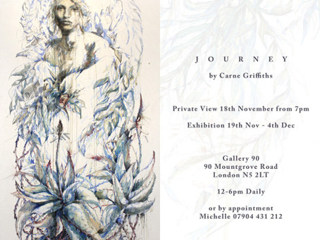 Journey by Carne Griffiths – Private view Invitation