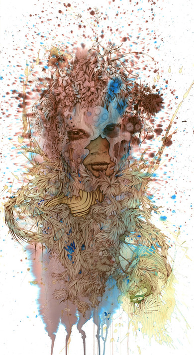 Across the line by Carne Griffiths