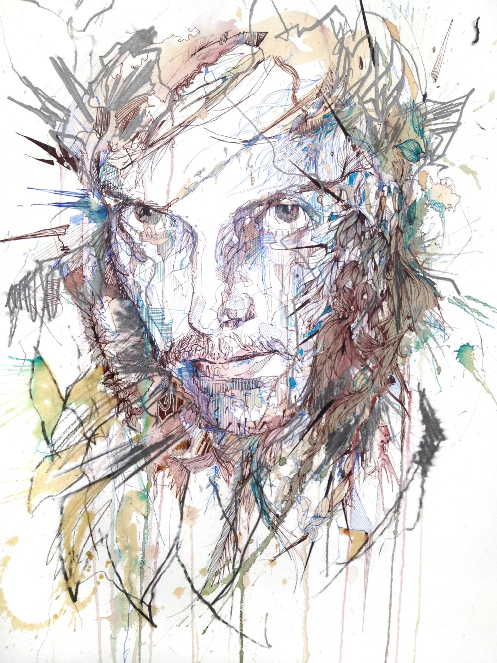 The Green Man by Carne Griffiths